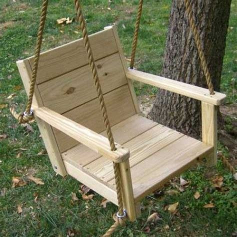 diy chair swing wood swings co engravable wooden rope adult swing chair