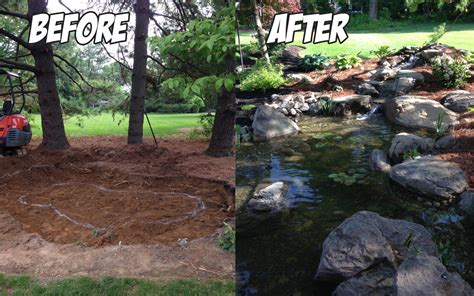 Aquascape Pondless Waterfall Pond Lancaster Pa Before Amp After C E Pontz Sons