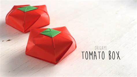 Origami Tomato - origami tomato box