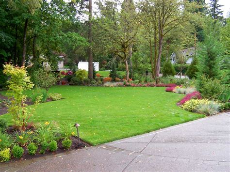 landscaped backyards lewis landscape services inc portland oregon
