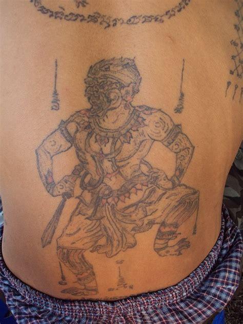 sak yant thai temple tattoos yant hanuman