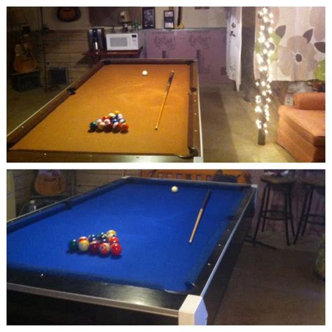 diy pool table remodel used pool table 20 new felt