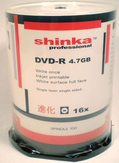 Dvd R 16x Maxell Printable Tw Cmc Isi 50 shinka pro dvd r47 white inkjet f f 16x spindle 100 carouselmedia