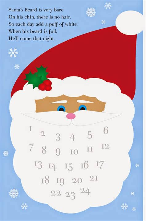 free printable santa advent calendar whine dine and design countdown to christmas free printables