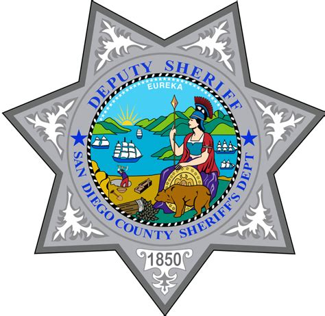 County Of San Diego Records File Badge Of The San Diego County Sheriff S Department Svg Wikimedia Commons
