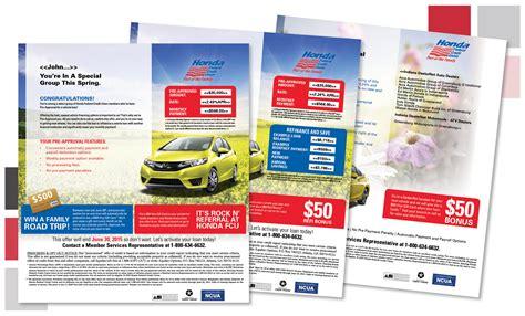 dealernet honda honda fcu auto mailers hyattward advertising