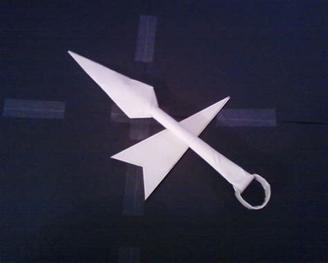 How To Make Paper Kunai - paper kunai and sheath instructable