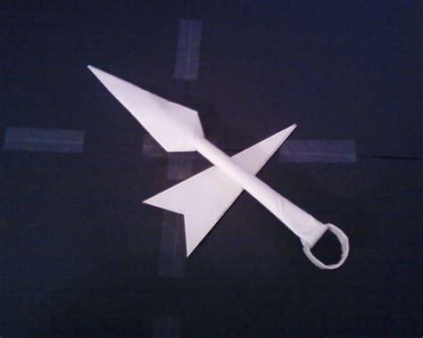 How To Make A Paper Kunai - paper kunai and sheath instructable