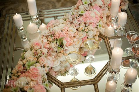Mirror Table Decor by Table Wedding Decoration Wedding Style Guide