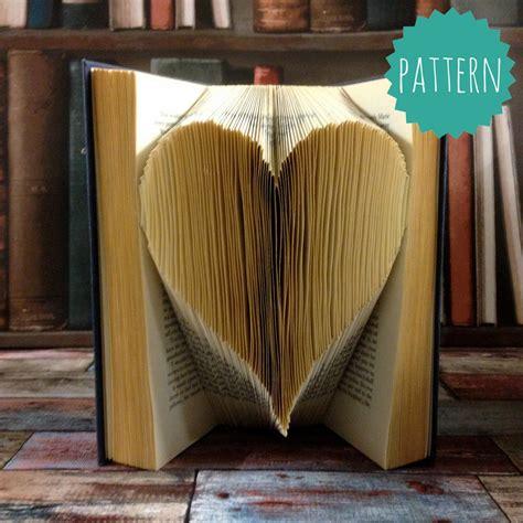folded book art pattern heart folded book art heart pattern tutorial gift home