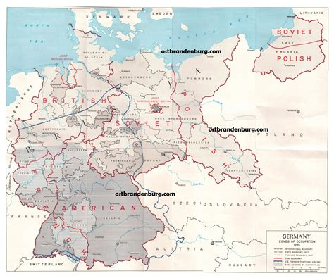 map of germany in 1945 maps of brandenburg germany