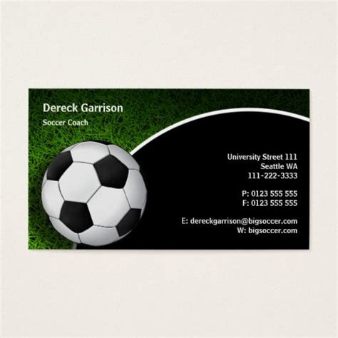 Soccer Business Card Templates Free by 291 Best Images About Sports Coach Business Cards On