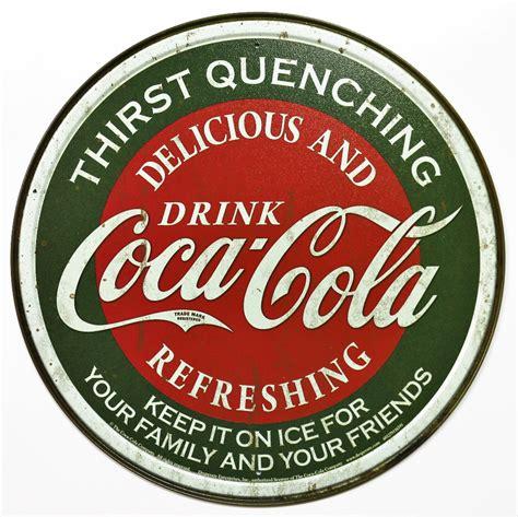 pop signs drink coca cola tin metal coke sign soda pop classic