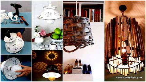 recycled home decor ideas recycle old items into diy budget lighting projects that