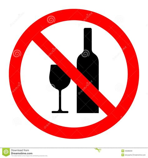 alcohol vector no drinking sign vector stock vector illustration of