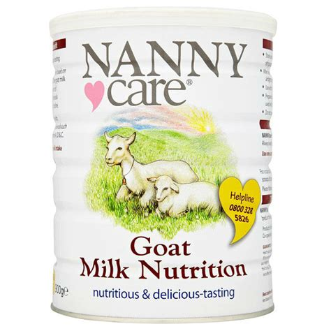 nanny care goat milk nutrition products ireland nanny care