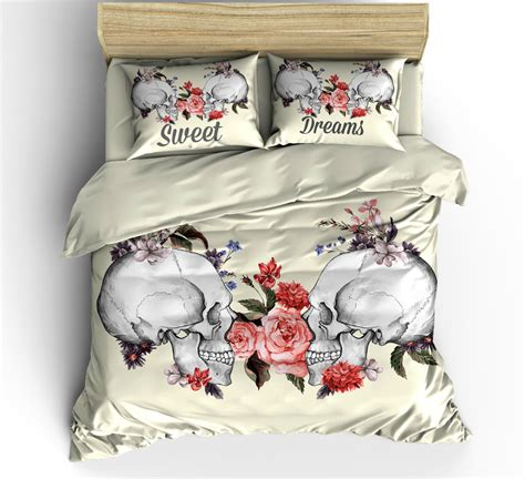 sugar skull bedding queen sugar skull bedding duvet comforter cover set sugar