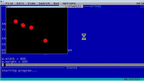 qbasic tutorial youtube qbasic tutorial 49 bouncing balls animation qb64