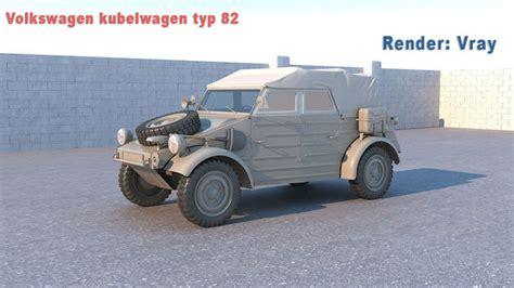 volkswagen kubelwagen volkswagen kubelwagen typ 82 3d model cgtrader