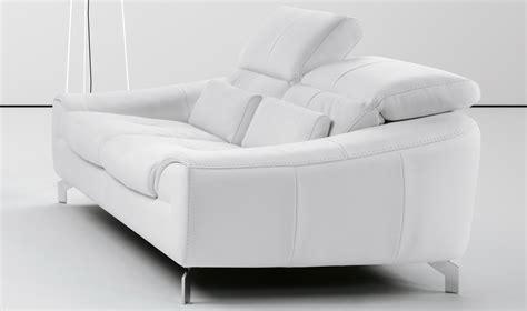 Soft Leather Sofa Set White Sofa Set In Soft Leather With Color Options San Diego California Idp Italia Bonne