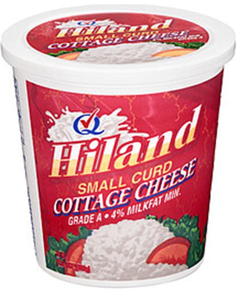 Cottage Cheese Small Curd by Hiland Cottage Cheese Small Curd 24 0 Oz Nutrition