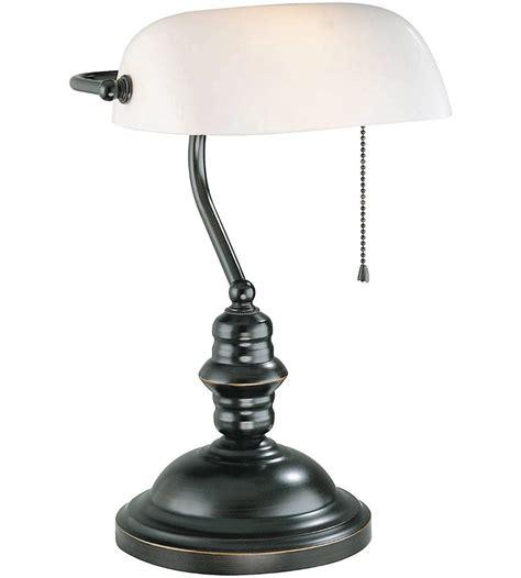 Bronze Bankers Desk Lamp Banker Desk Lamp Dark Bronze With Frosted Glass In Desk