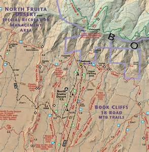 colorado trail map book fruita grand junction trails recreation topo map