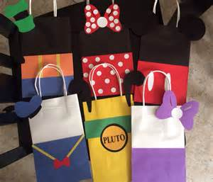 mickey mouse favor bags mickey mouse clubhouse favor bags