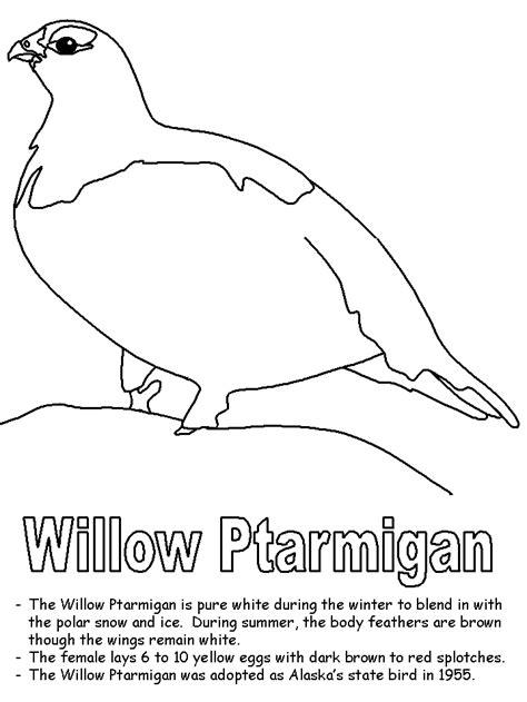 Willow Ptarmigan Coloring Page Alaska Coloring Pages