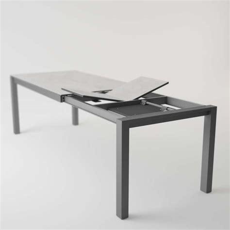 table cuisine ceramique table moderne en c 233 ramique extensible quadra 4 pieds