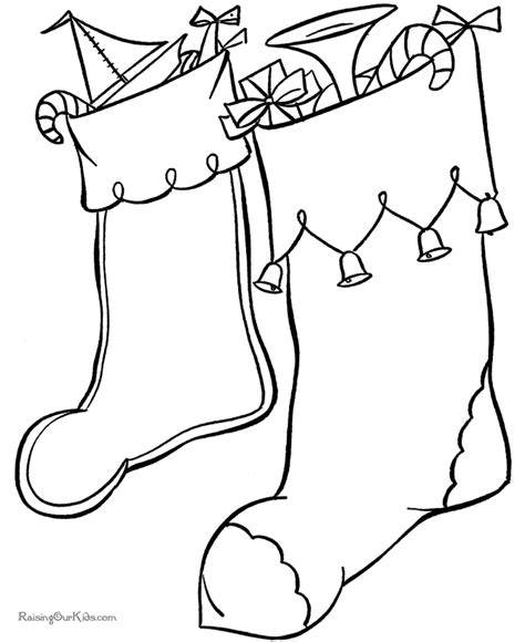 cute stocking coloring page christmas stockings pictures kids coloring