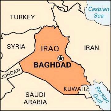 baghdad on map baghdad location encyclopedia children s