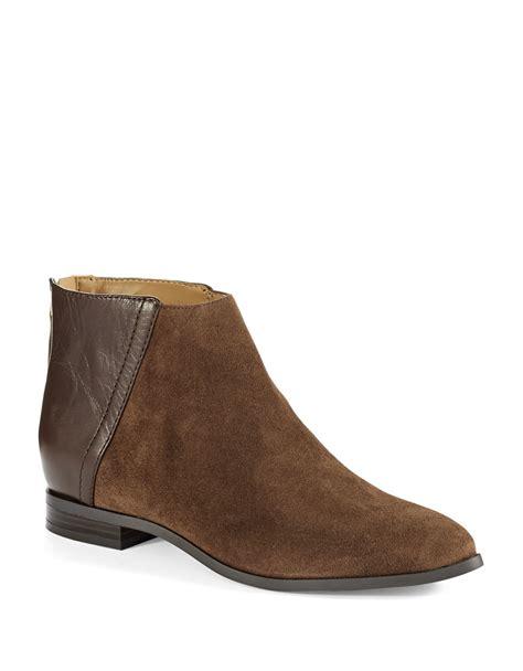 nine west booties in brown lyst