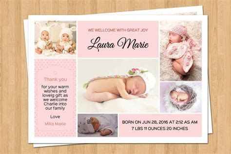 birth announcement template free birth announcement email template free templates
