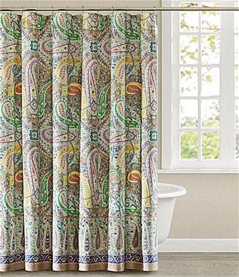 dillards drapes echo scarf paisley shower curtain shower curtains