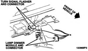 chevrolet cavalier location of turn signal flasher on 94