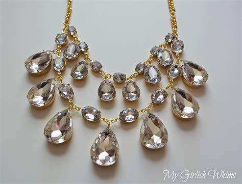 how to make rhinestone jewelry diy rhinestone statement necklace my girlish whims