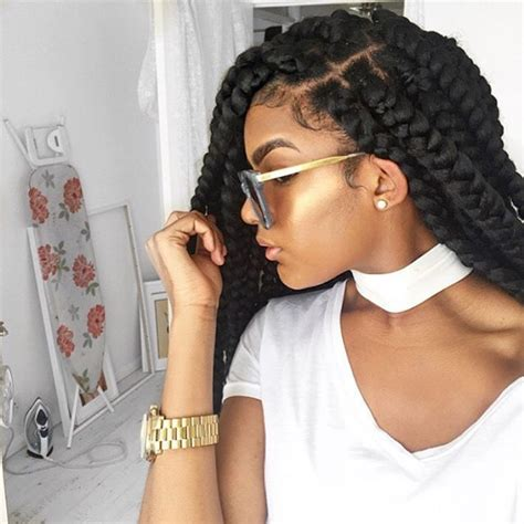 box braids for prom chunky box braids extension styles pinterest chunky