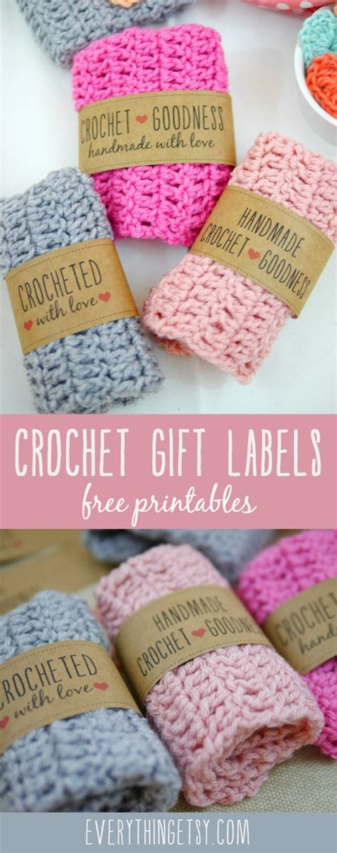 Handmade Labels For Crochet - free printable knit gift labels