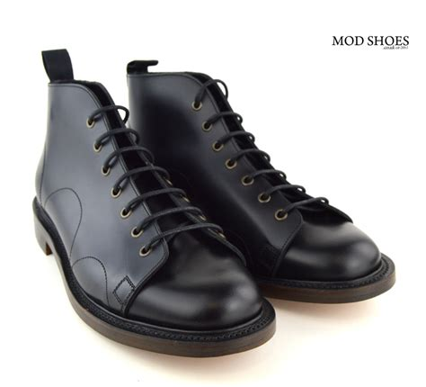 boot shoes for black monkey boots leather sole mod shoes