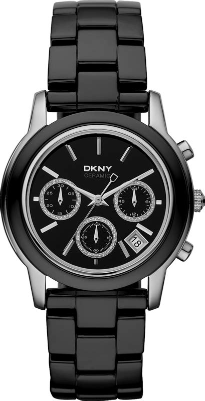 Black Ceramic Series Dkny dkny ny8314 locked loaded black ceramic