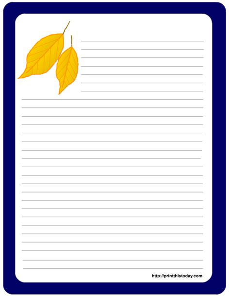 printable notepad stationery free printable thanksgiving stationery