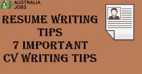 important resume tips resume writing tips 7 important cv writing tips