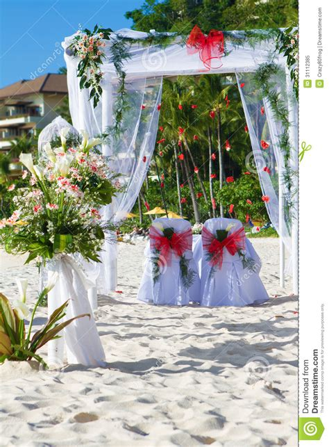 Wedding Arch Photos by Wedding Arch And Set Up Royalty Free Stock Photo Image