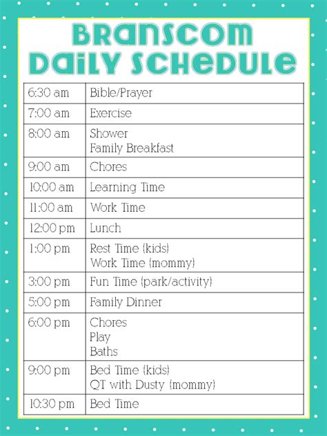 home daycare schedule template how i work from home featuring erin from healthy branscoms