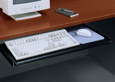 Keyboard Pull Out Shelf by Reception Desk W Riser Stocked In 7 Color Combinations