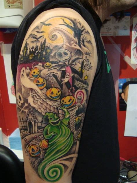 tattoo nightmares tattoo gallery nightmare before christmas half sleeve tattoo