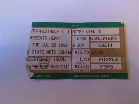 rock the garden tickets 9 best rock concert ticket stubs images on