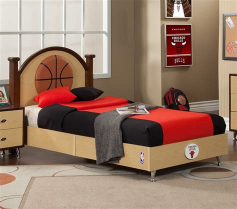 basketball bedroom sets dreamfurniture com nba basketball chicago bulls twin bed