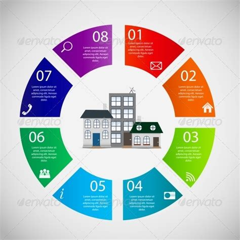 town infographic template business concept vector by